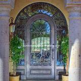 Lichtbogen-Oberseite Hand-Crafted bearbeitetes Eisen-einzelne Eingangs-Haustür für Haus