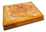 sul contenitore di regalo di legno artistico Shinning del contenitore di sigaro di rivestimento del mercato