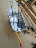 亜鉛上塗を施してある皿が付いている構築の手押し車(Wb5009)