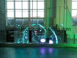 Bildschirm des Fenster-Schaukasten-beweglicher farbenreicher transparenter Glas-LED