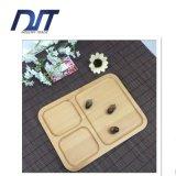 Bois de hêtre respectueux de l'environnement pour la plaque de dîner, assiette de rectangle de fruit