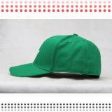 Cappello piano di Snapback del bordo piano verde del ricamo
