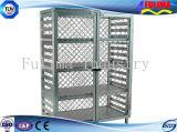 Jaula de almacenamiento de malla de alambre de seguridad con cerraduras (SSW-F-002)