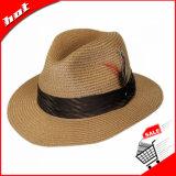 Chapéu de homem de palha de palha de papel