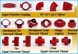 T meccanico Grooved del ferro nodulare approvato di FM/UL