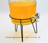 Vaso di memoria della spremuta di vendita calda/contenitore di bevanda di vetro con il coperchio/la cristalleria di vetro