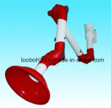 Três braços flexíveis da sução das junções para o sistema da extração das emanações