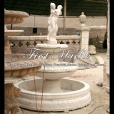 Fontana bianca di Carrara per la decorazione domestica Mf-1016
