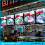 Fast Food Restauran를 위해 Snap Open Aluminum LED Menu Light Box 광고
