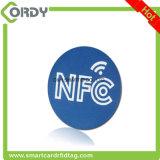 etiqueta en blanco del disco del PVC RFID con la viruta NTAG213 NTAG215 de NFC