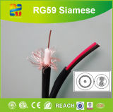 cabo Rg59 do CCTV 75ohm Siamese
