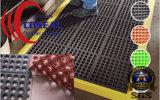 Estera de goma del resbalón anti para el taller al aire libre del barco de la cubierta del patio