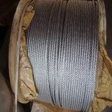 гальванизированная 7X19 веревочка стального провода