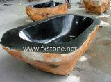 Baignoire de pierre découpée par main ou de granit