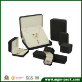 Коробка ювелирных изделий PU изготовленный на заказ черноты кожаный пластичная