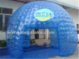 半分の透過膨脹可能なドームのテント