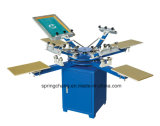 4 presse typographique manuelle d'écran de carrousel de T-shirt de station de la couleur 4 Spm450