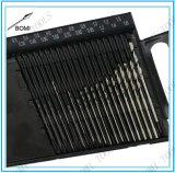torsion-Bohrmeißel-gesetzter Draht-Anzeigeinstrument-Index 61-80/0.3-1.6mm Höhenflossenstation-20PC Minimikroin einem Plastikkasten