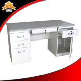 Tableau personnalisé blanc de bureau de Tableau exécutif de bureau de management en métal de meubles en acier avec le double piédestal