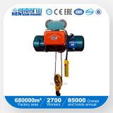 Línea pendiente solo alzamiento eléctrico de la velocidad 0.25~32 toneladas