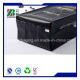 250g 500g 1kg 2kg schwarzer Plastikkaffee-Mattbeutel mit seitlichem Stützblech