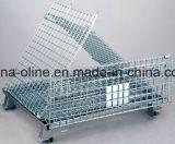 Recipiente/gaiola dobrados do engranzamento de fio de aço
