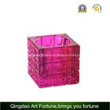 Supporto di candela di vetro di Tealight del cubo Afch-T6568