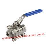 Válvula de esfera roscada de aço inoxidável 3-PC com alta pressão 1000psi / Pn63