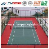 Corte de tênis acrílica da repercussão elevada com certificado de Itf