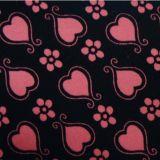 для одежд или ботинок и пятен 100% & сердец леопарда полиэфира мешков Flocking ткань
