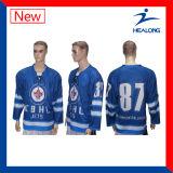 Jersey complètement sublimés en ligne de hockey sur glace de maille de mode de Healong