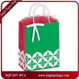 Bolsa de papel modificada para requisitos particulares lujo feliz del vino de /Kraft de la bolsa de papel del vino de la insignia de los compradores y brillante