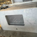 Раковина и Countertop ванной комнаты Carrara белые мраморный