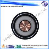 Alto voltaje y envoltura de Ehv/XLPE Insulation/PVC/cable de la energía eléctrica del cobre