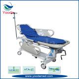 Carro Emergency paciente manual do espaldar com o trilho lateral de liga de alumínio