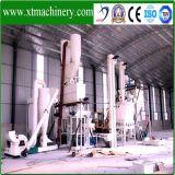 5 toneladas por hora, 25% de materia prima tasa de humedad, línea de pellets de madera