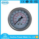 fabricante do calibre de pressão do petróleo hidráulico do diâmetro 60mm da barra 4500psi