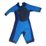 Costume surfant d'une seule pièce de Suit& de plongée de douille de short du néoprène de 3mm des femmes