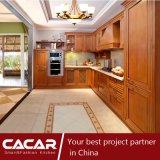 Gabinete de cozinha superior importado Mici da madeira contínua do amieiro de Milestii (CA12-01)