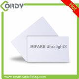 De witte Kaart van de Kaart MIFARE van pvc ISO van 13.56 Mhz Ultralight EV1