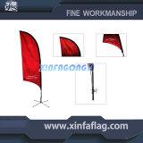 Bandeira de praia da bandeira da bandeira da pena da tela do poliéster