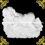 Statua di marmo naturale dei capretti di sonno