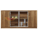 Governo di vetro del tè di uso dell'ufficio del portello di disegno di legno moderno (HY-C02)