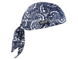 Custom Made Logo Impresso barato promocional Cotton Doo Rag Biker Sports Headwrap