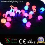 カラー変更DMX 512 RGBのクリスマスストリング球ライト