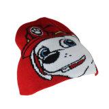 أحمر جاكار كلب أسلوب [بني] يحبك قبّعة لأنّ جدي وأطفال