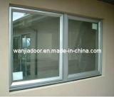 Guichet de glissement en verre de Double couche de PVC Wj-Pvcw-07