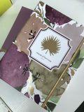 금 나선형 바인딩을 인쇄하는 관례 두꺼운 표지의 책 전표