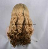De la alta calidad peluca sintetizada recta del frente del cordón del pelo de largo