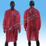 Cappotto uniforme del laboratorio del lavoro medico a gettare del Nonwoven pp per il laboratorio